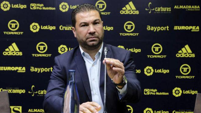 Juan Carlos Cordero, durante una rueda de prensa /