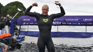 Sharon van Rouwendaal, tras ganar los 5 km en aguas abiertas.