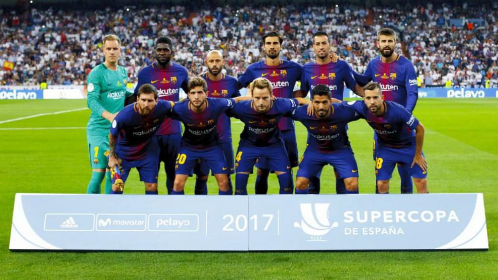 El F.C. Barcelona, subcampeón de la pasada Supercopa de España