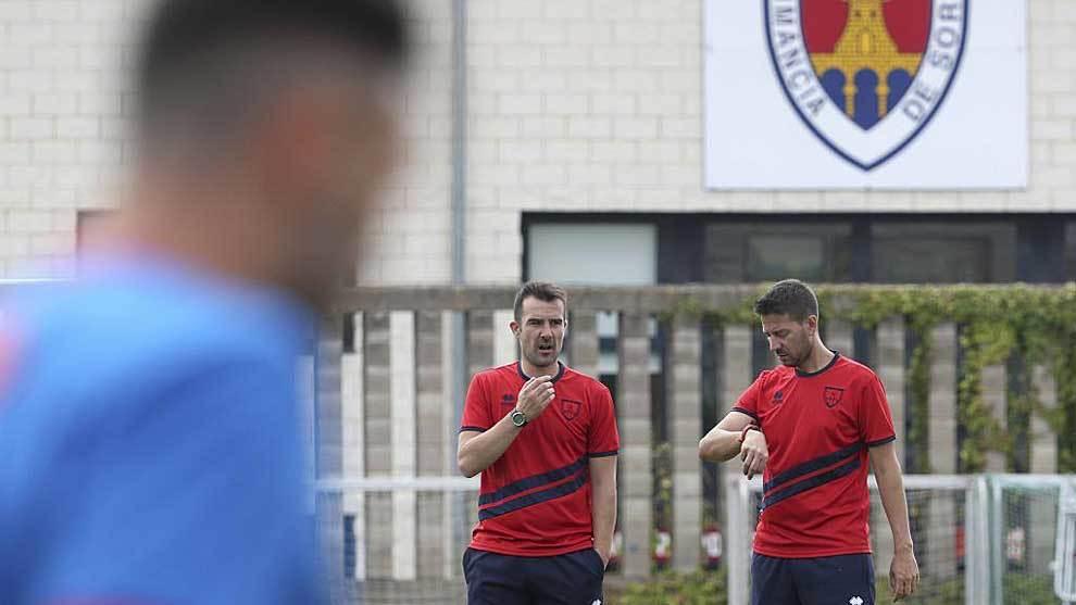 López Garai, durante un entrenamiento de esta pretemporada en Soria