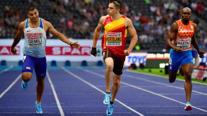 Bruno Hortelano, en las semifinales de los 200 metros