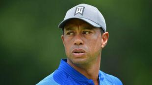 Tiger Woods, esta semana durante una vuelta de prácticas.