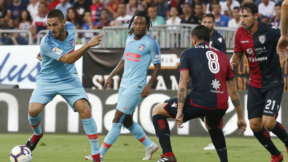 Koke controla ante la presión del Cagliari