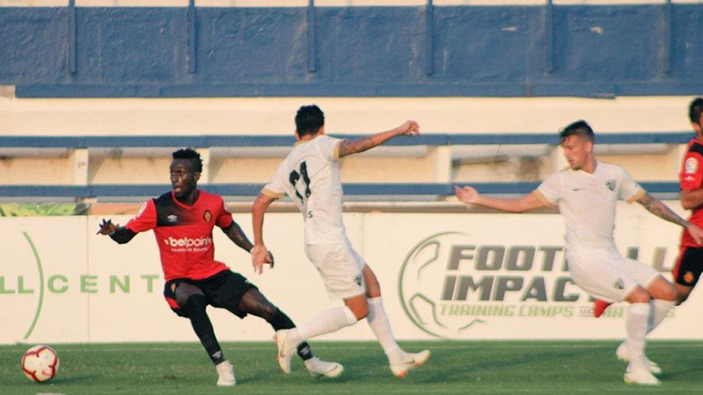 Imagen del partido entre Mallorca y Málaga