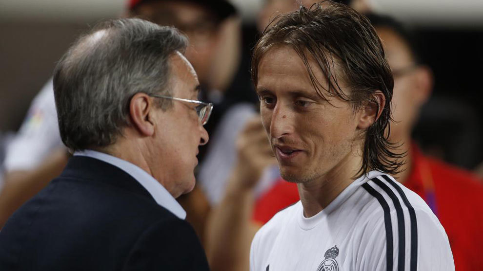 Luka Modric and Florentino Perez