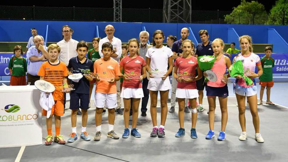 Vencedores y finalistas del Tennis Europe sub-12 de Pozoblanco