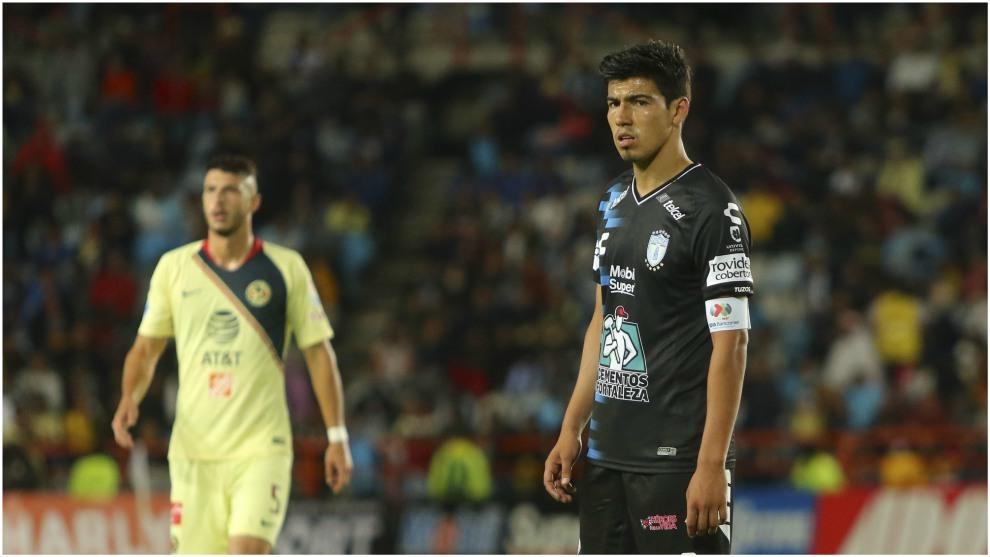 Gutiérrez, en un partido con Pachuca cotnra el América.