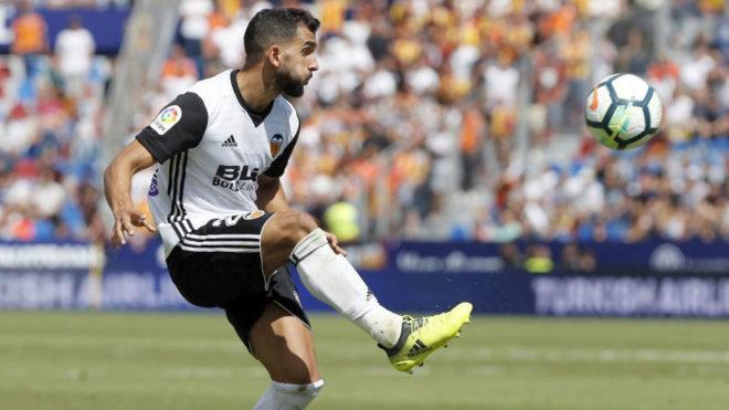 Montoya, durante un partido con el Valencia.