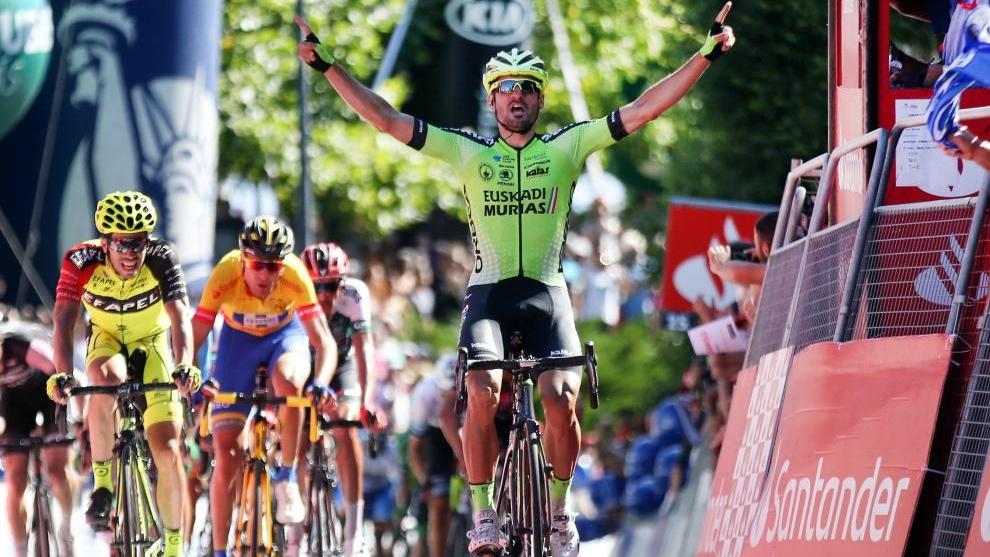 Enrique Sanz (Euskadi-Murias) fue el más rápido de la séptima...