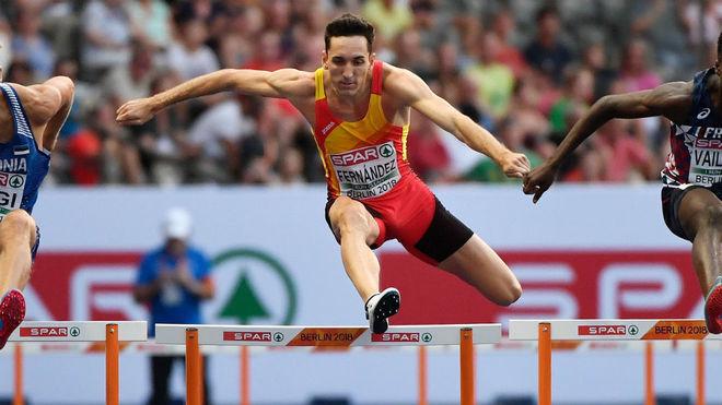 Sergio Fernández, en competición en Berlín