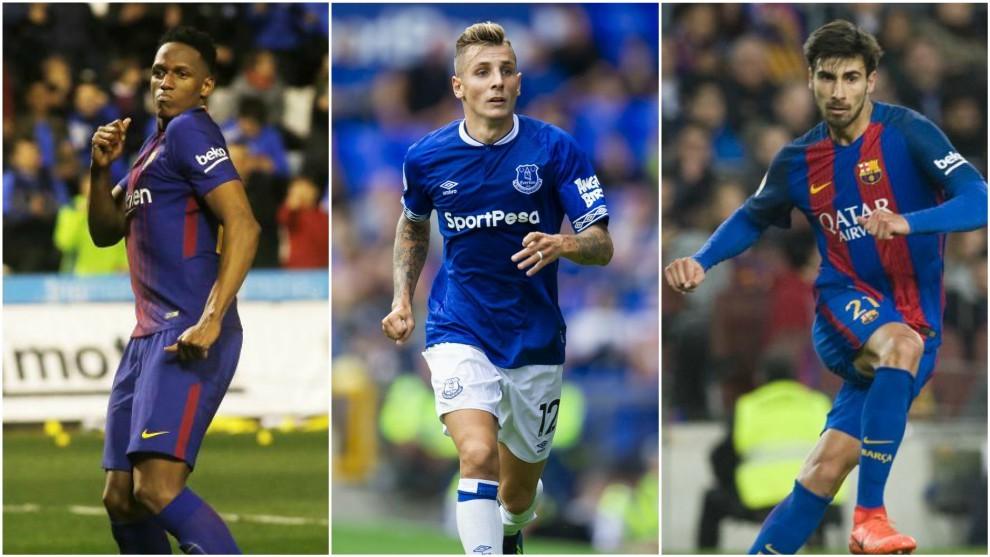 Yerry Mina, André Gomes y Digné nuevo jugadores del Everton...