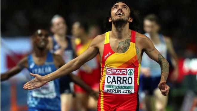 Fernando Carro cruzó segundo la meta en la final de los 3.000...