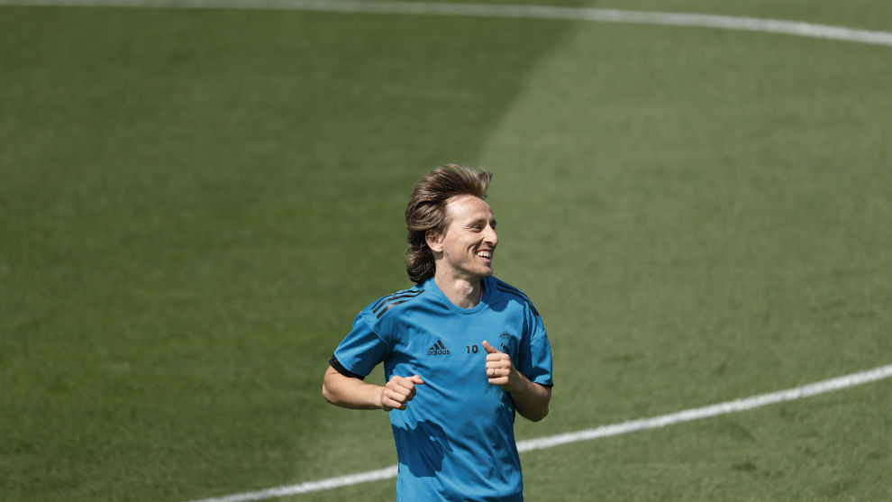 Modric, exercising in Valdebebas.
