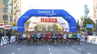 Salida de la Sanitas MARCA Running Series Valencia 2018.