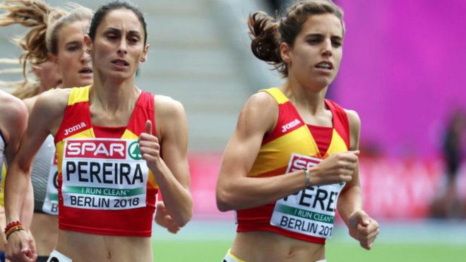 Marta Pérez y Solange Pereira durante su serie de clasificación.