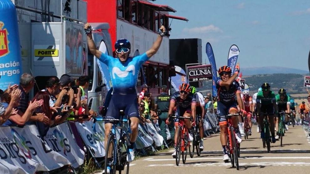 Carlos Barbero celebra su nuevo éxito en Clunia.