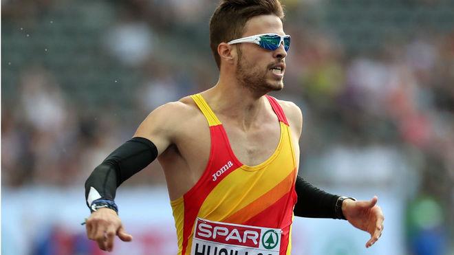 Óscar Husillos, en las semifinales de 400 metros