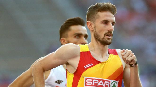 Álvaro de Arriba, en carrera en semifinales
