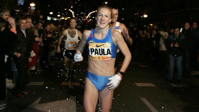 Paula Radcliffe en acción durante la San Silvestre Vallecana 2016.