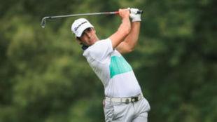 Adrián Otaegui, durante la segunda jornada del PGA Championship.