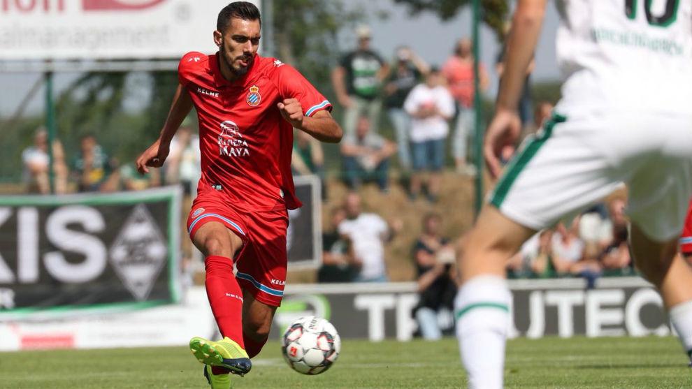 Borja, durante el encuentro contra el Borussia.