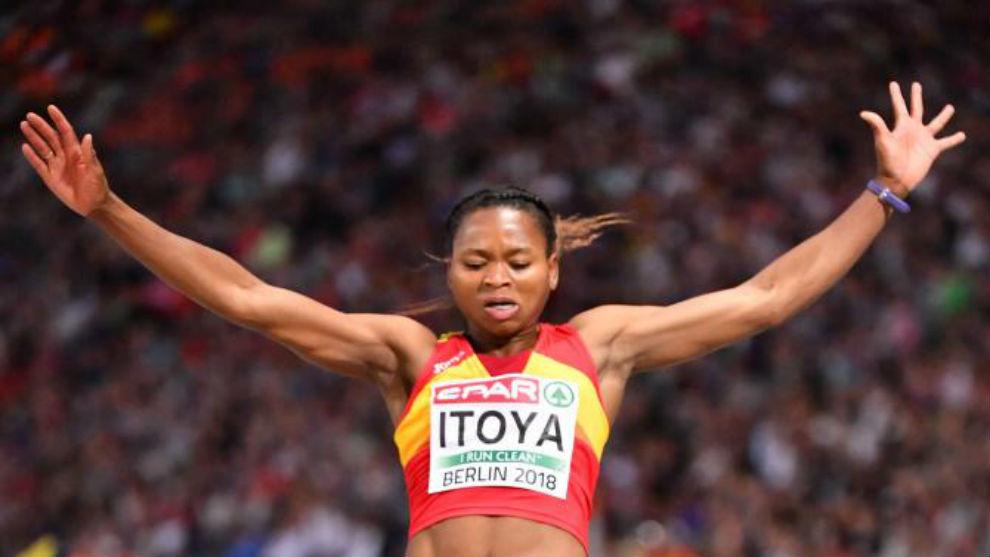 Juliet Itoya, en plena competición
