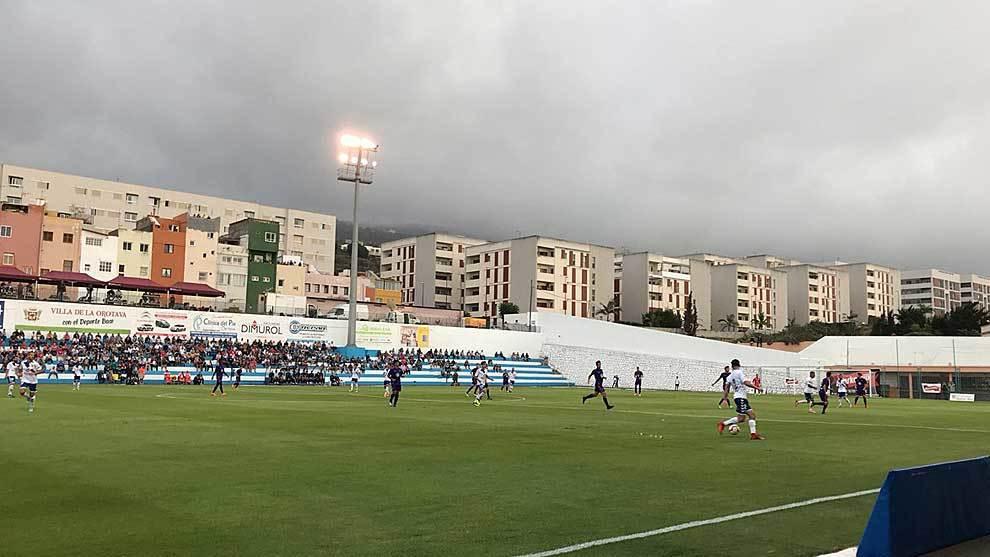Panorámica general del partido disputado en Los Cuartos de La Orotava