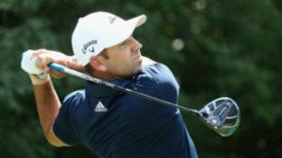 Sergio García, durante la segunda jornada del PGA Championship.