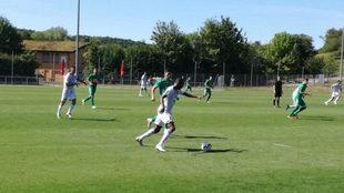 Un lance del duelo entre Hoffenheim y Eibar /