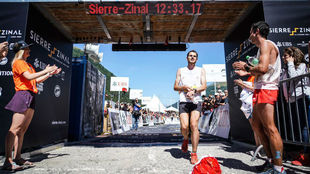 Kilian Jornet tras su victoria en la Sierre-Zinal.