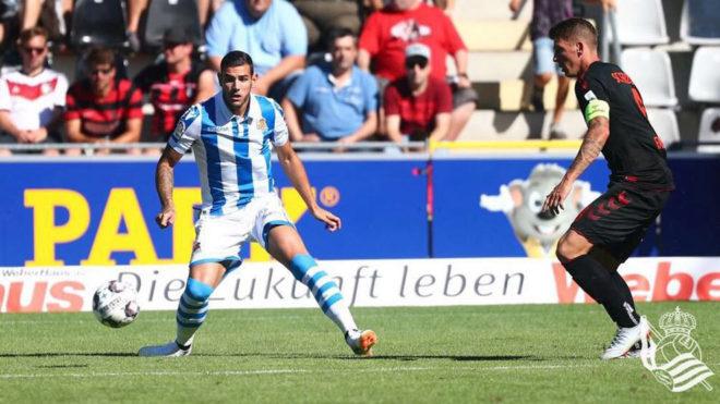Theo, en su debut con la Real Sociedad /