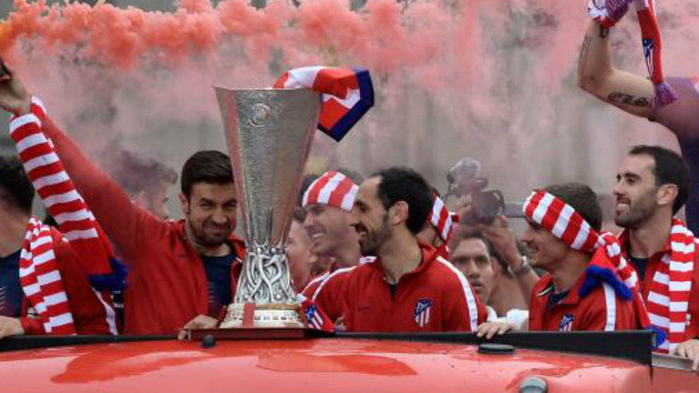 Atletico celebrate Europa League title