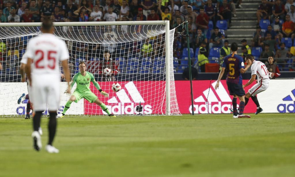 El gol de Sarabia ante el Barcelona.