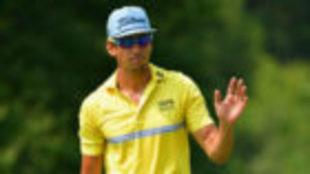 Rafa Cabrera Bello, durante la cuarta jornada del PGA Championship.