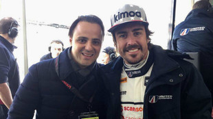 Felipe Massa y Fernando Alonso.