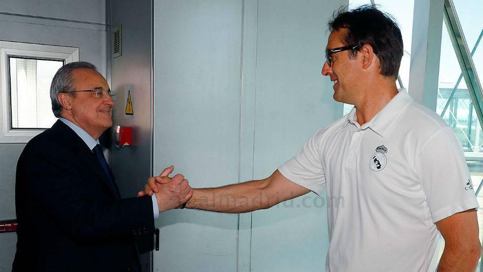 Florentino Perez & Julen Lopetegui