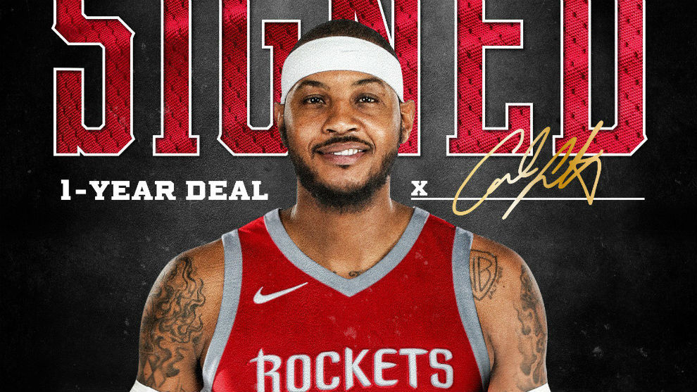 Carmelo Anthony ficha por Houston Rockets