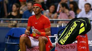 Rafa Nadal (32 años) en Toronto.
