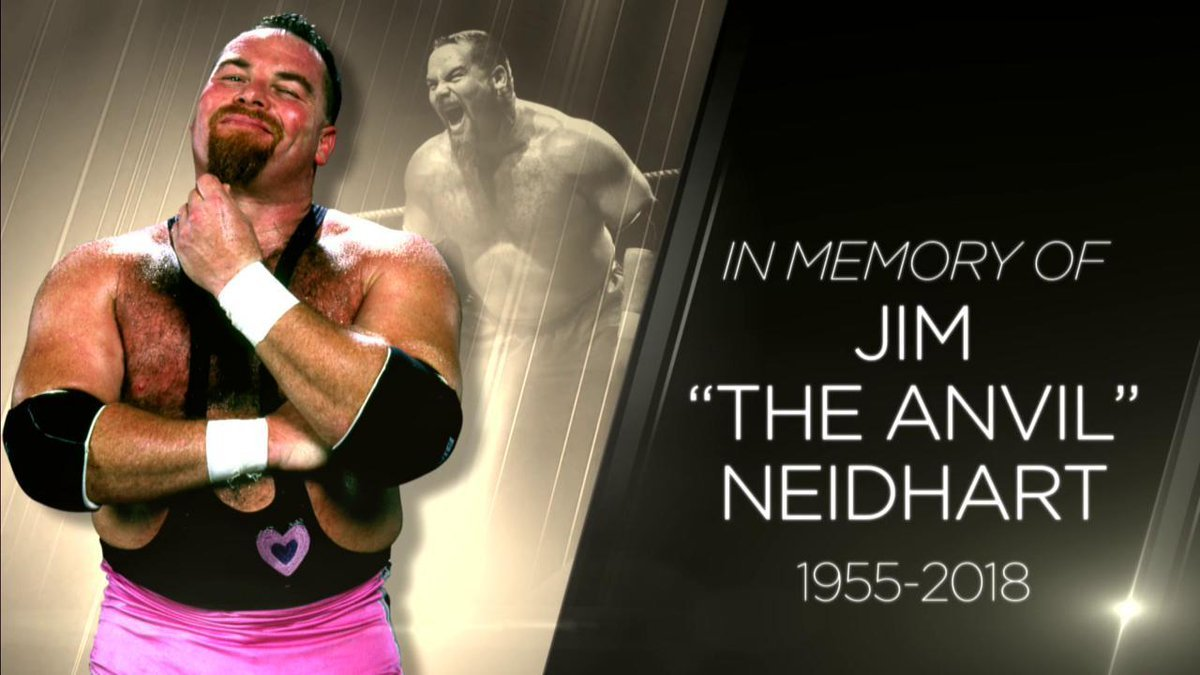 Homenaje de la WWE a Jim 'The Anvil' Neidhart