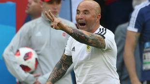 Sampaoli, con la selección argentina.