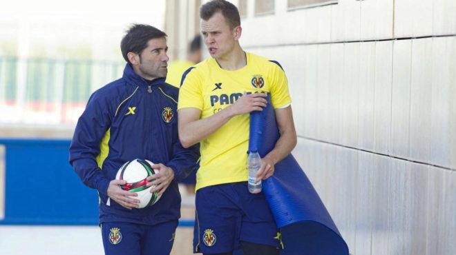 Marcelino y Cheryshev en Villarreal.