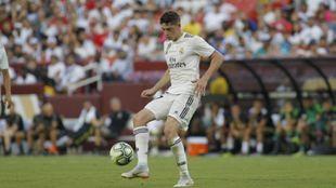 Fede Valverde durante un partido con el Real Madrid