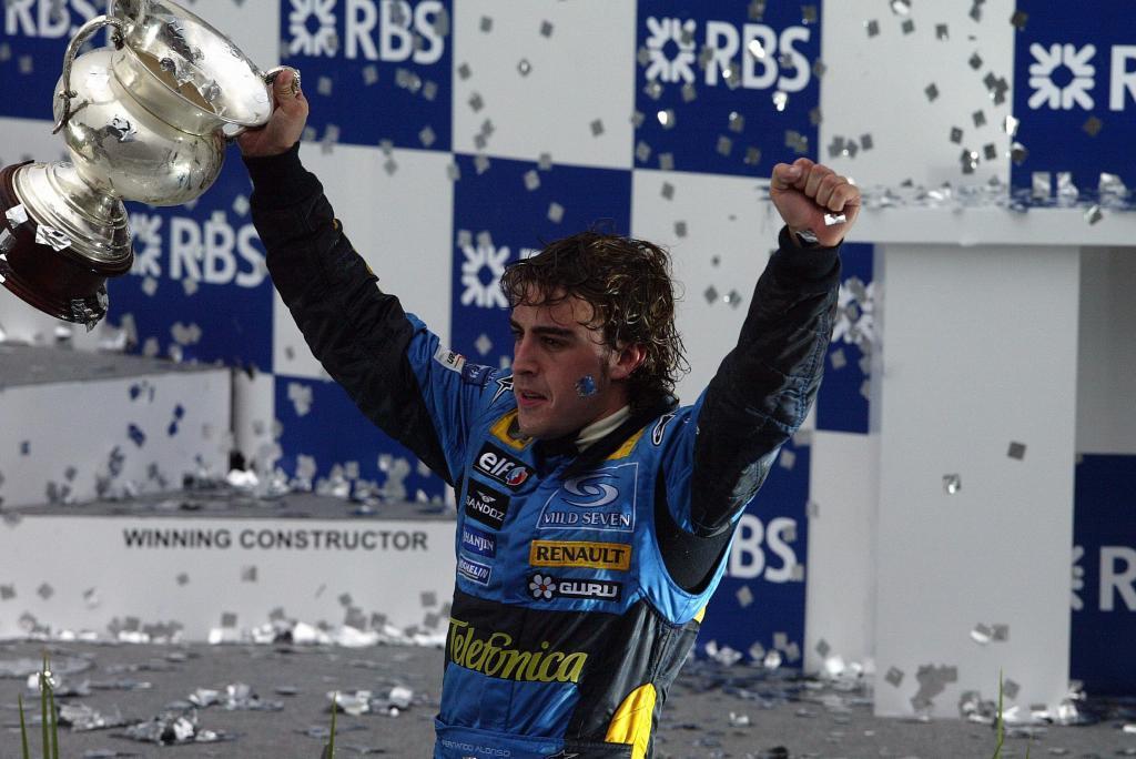 Fernando Alonso campeón del mundo 2005.