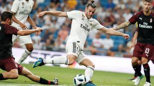 Gareth Bale durante el partido del Real Madrid contra el Milan