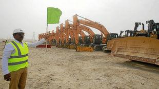 Día en el que se iniciaron las obras en el estadio Al Wakrah.