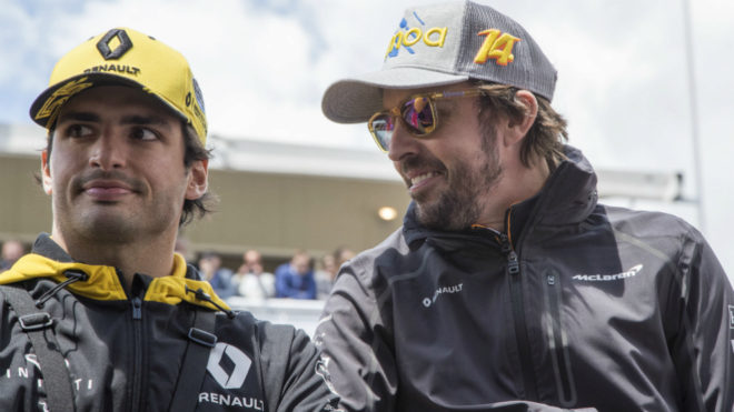 Fernando Alonso and Carlos Sainz