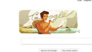 Imagen del Doodle de Google dedicado a Carmen Conde