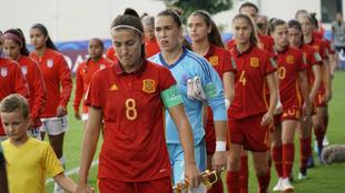 España, justo antes de comenzar su encuentro frente a Estados Unidos