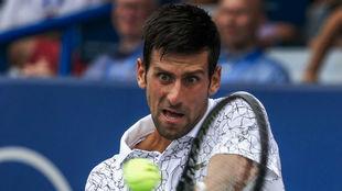 Djokovic (31 años) durante su partido en Cincinnati.