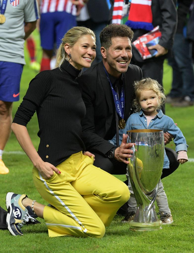 Simeone, with his wife and daughter.